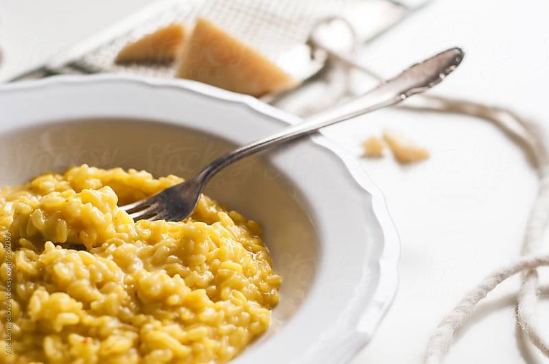 Risotto with Saffron by Alie Lengyelova for Stocksy United