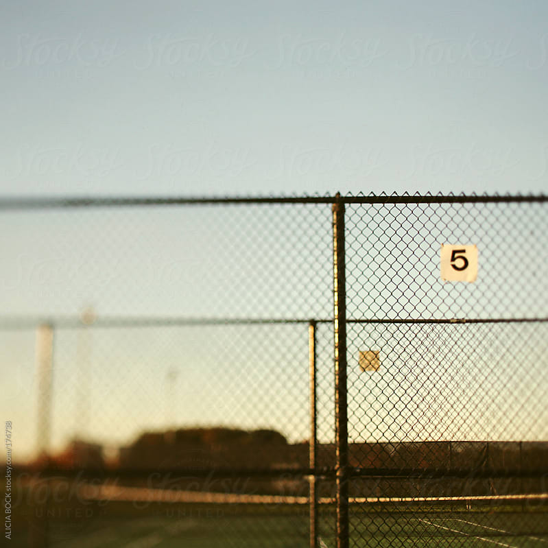 Tennis Court Fence by ALICIA BOCK for Stocksy United