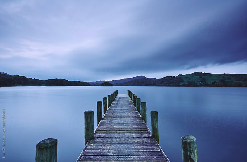 Jetty at dawn. Coniston Water, Cumbria, UK. by Liam Grant for Stocksy United