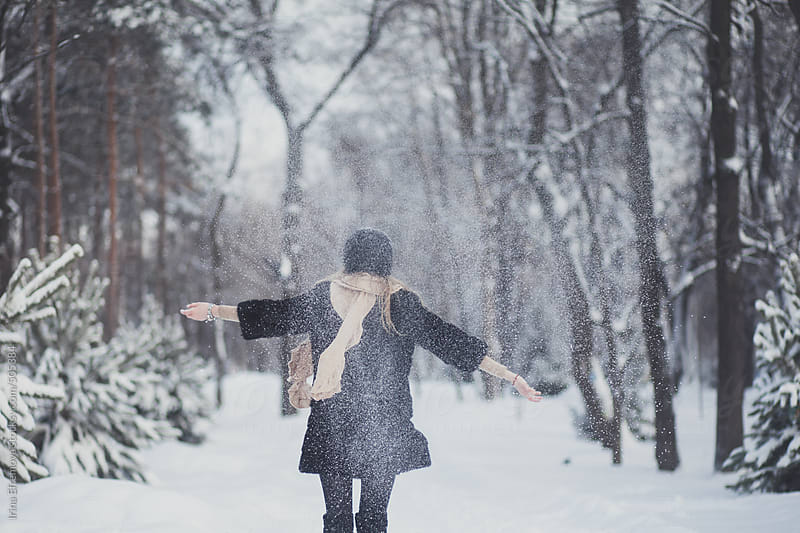 Excited about the snow by Irina Efremova for Stocksy United