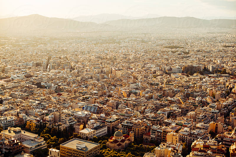 Sunset view over Athens by Aaron Thomas for Stocksy United