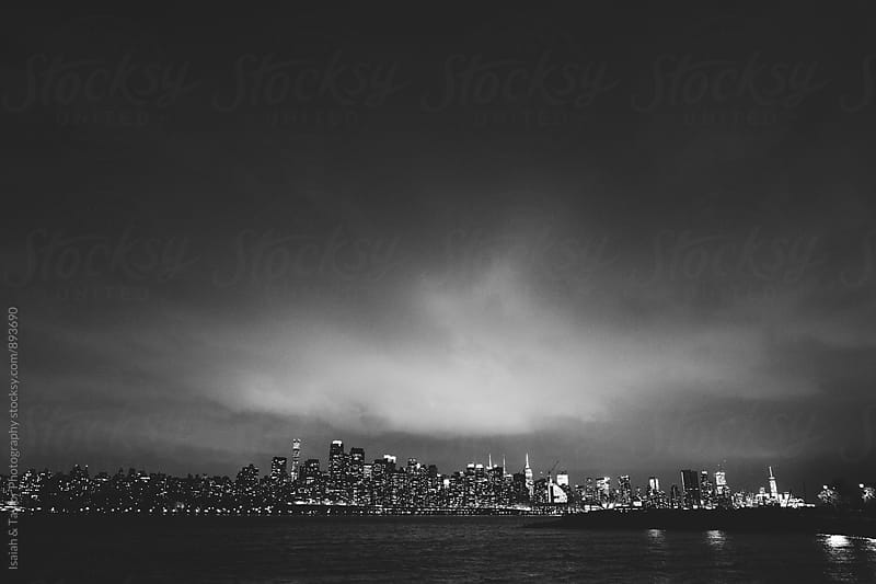 Cityscape at night by Isaiah & Taylor Photography for Stocksy United