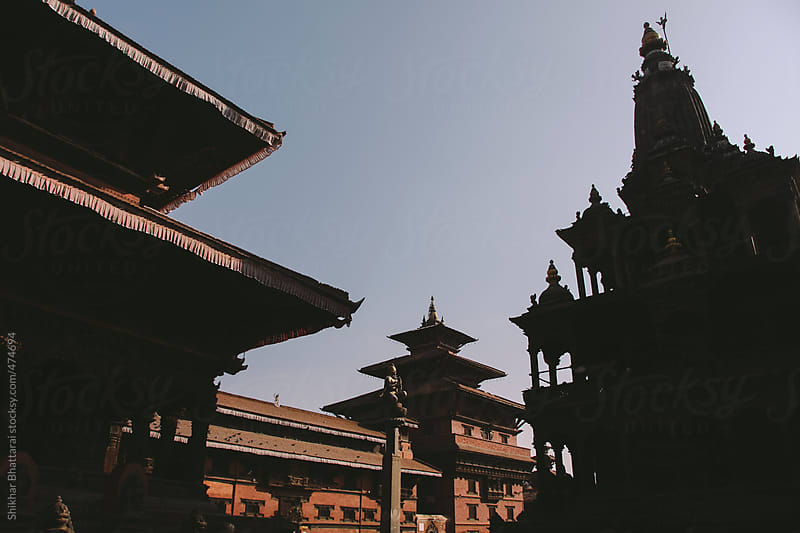 Temples and Pagodas of Patan Durbar Square. by Shikhar Bhattarai for Stocksy United