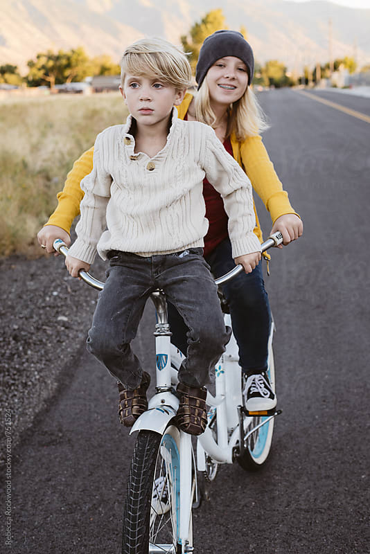 bike riding by Rebecca Rockwood for Stocksy United