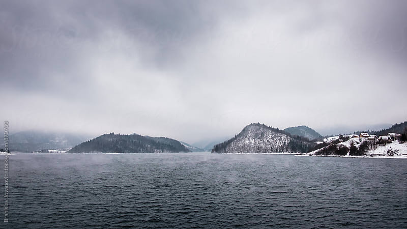 Lake in the Wintertime by Branislav Jovanović for Stocksy United