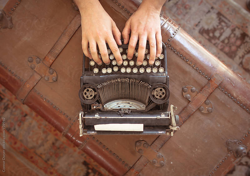 typewriter by Connor Dwyer for Stocksy United