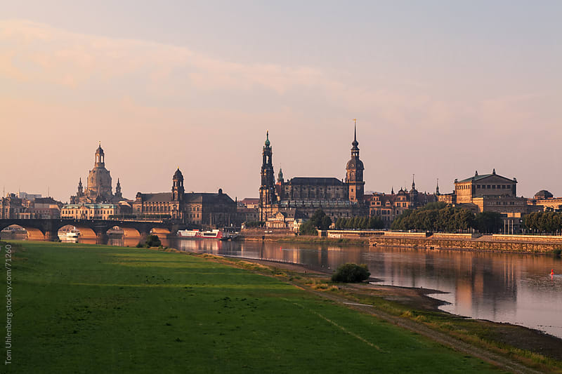Dresden Skyline at Sunrise (Germany) by Tom Uhlenberg for Stocksy United