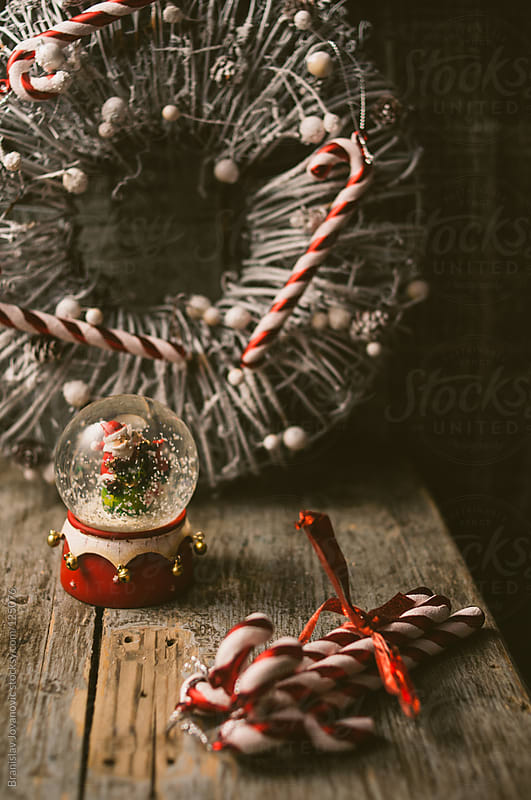 Christmas Decoration on Wooden Table by Branislav Jovanovic for Stocksy United