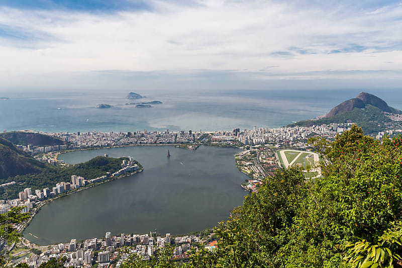View of Leblon and Ipanema from Corcovado, Rio, Brazil by Ben Ryan for Stocksy United