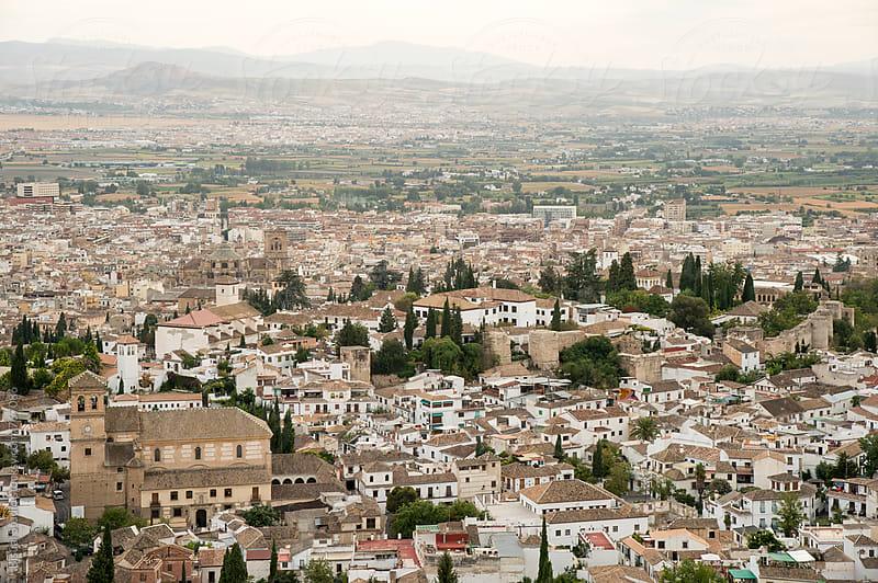Cityscape of Granada by Bisual Studio for Stocksy United