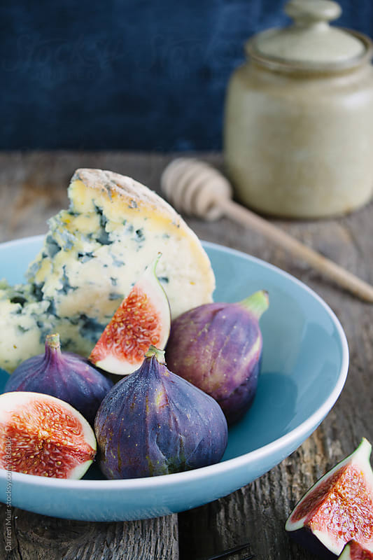 Stilton and figs. by Darren Muir for Stocksy United
