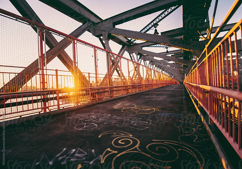 Williamsburg Bridge Sunset by Vivienne Gucwa for Stocksy United