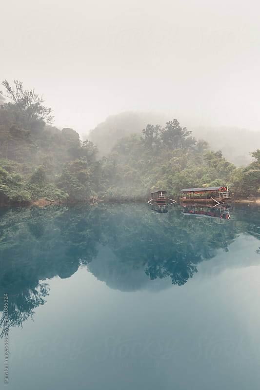 lake in Dinghu Mountain by Pansfun Images for Stocksy United