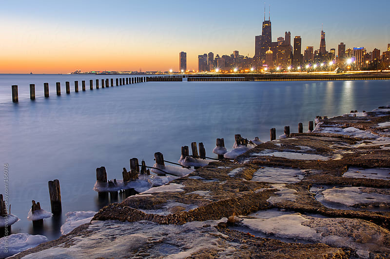 Cityscape Near the Lakefront by Brian Koprowski for Stocksy United