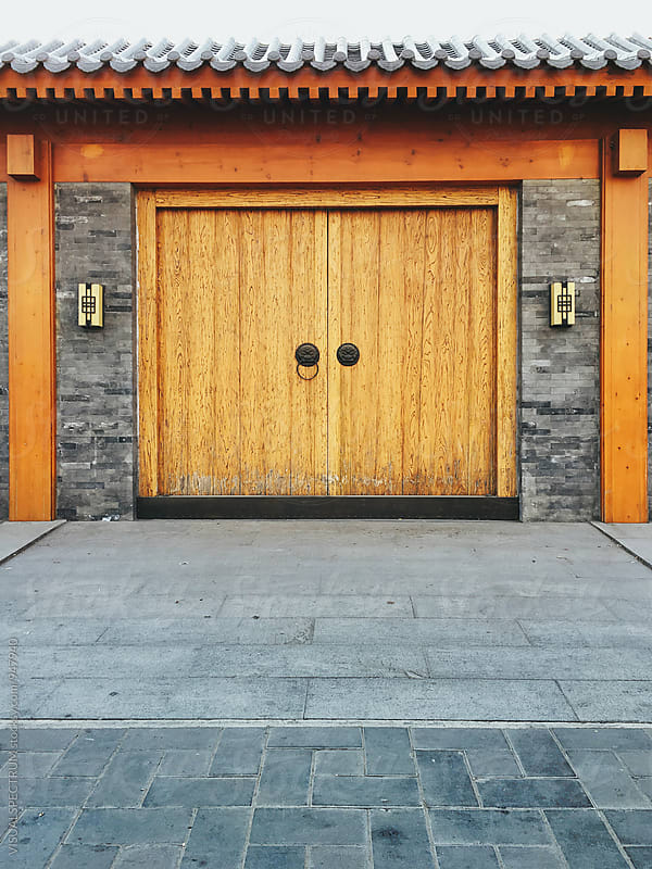 Wooden Chinese House Gate by VISUALSPECTRUM for Stocksy United