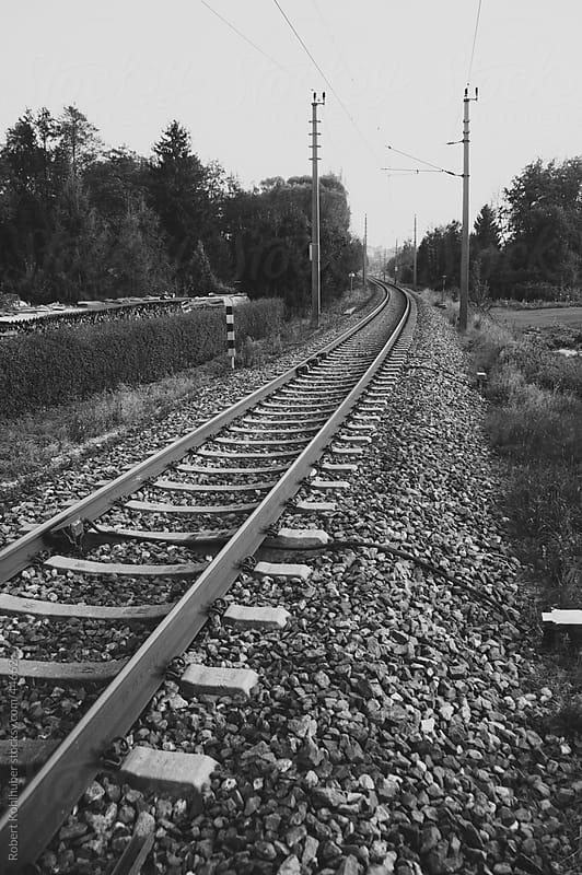 Train rails by Robert Kohlhuber for Stocksy United