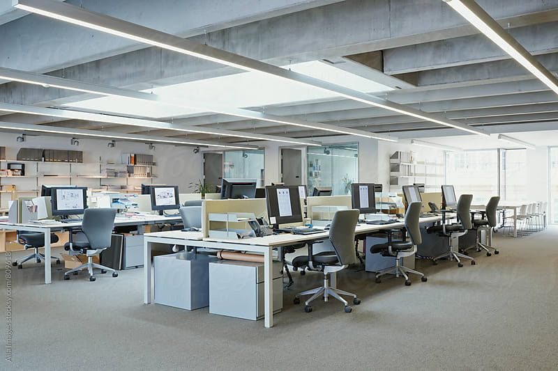 Bright empty designer office space by Aila Images for Stocksy United