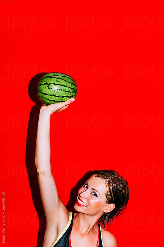 Playing with a Watermelon by Studio Firma for Stocksy United