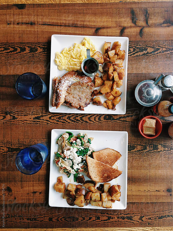 Breakfast Table at the Restaurant by Kevin Russ for Stocksy United