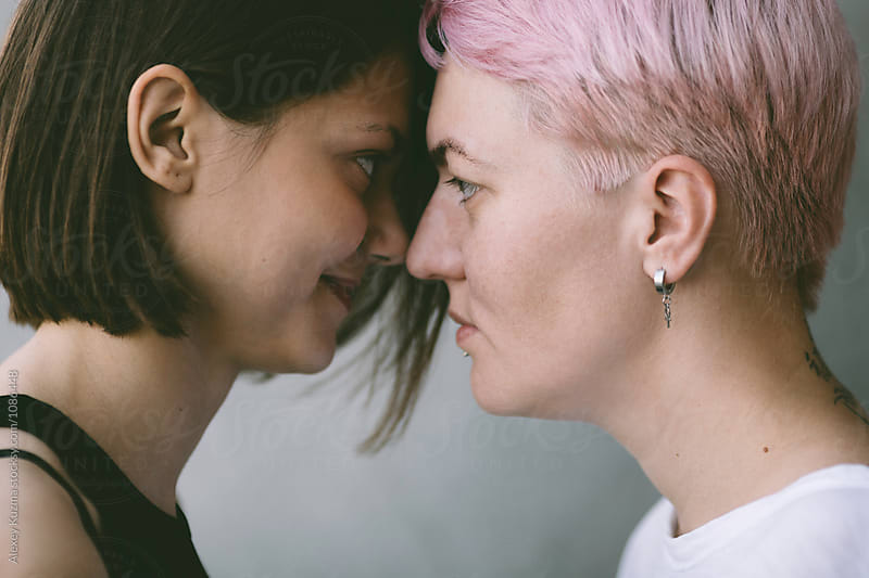 real lesbian couple in love by Vesna for Stocksy United