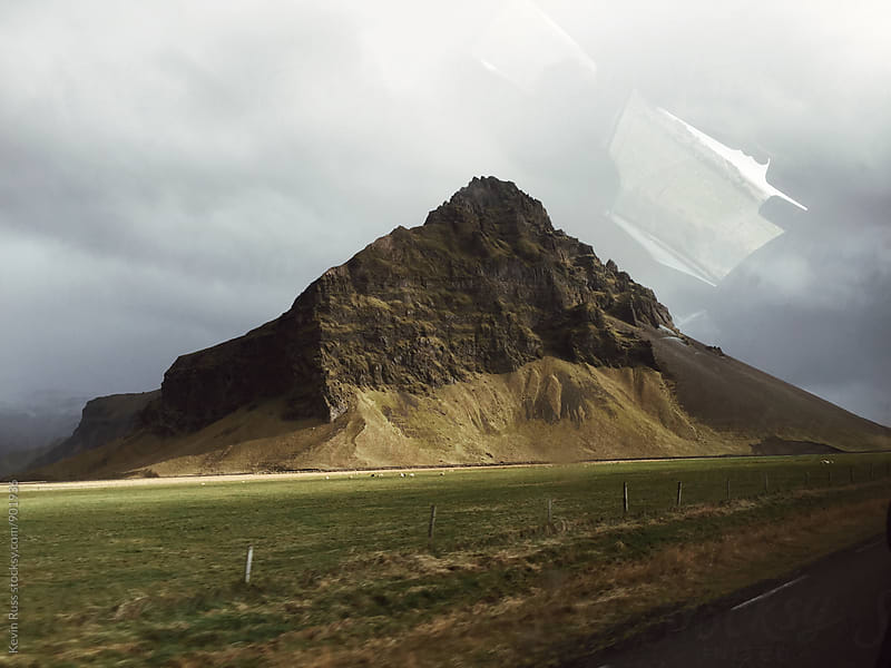 Rocky Mass on Icelandic Roadside by Kevin Russ for Stocksy United