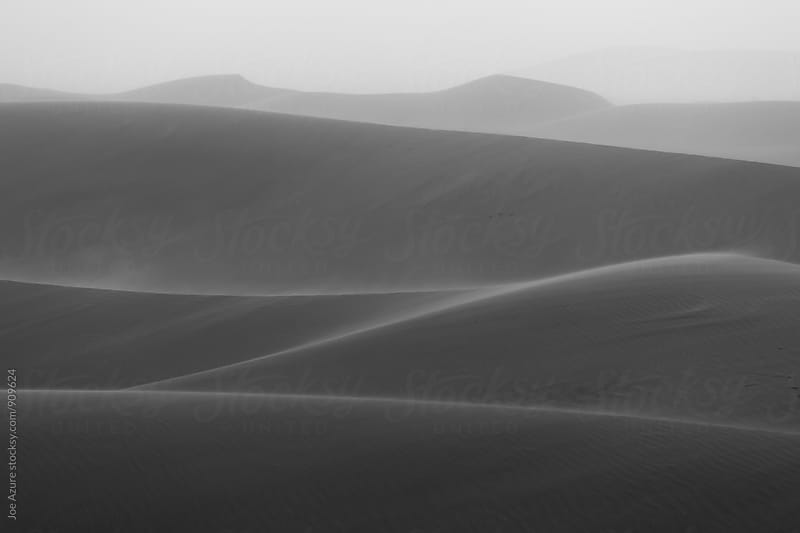 Monochrome Dunes at Sunrise by Joe Azure for Stocksy United