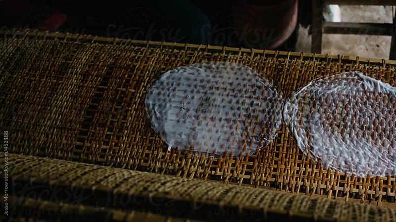 Making of vietnam Rice Paper by Jesse Morrow for Stocksy United