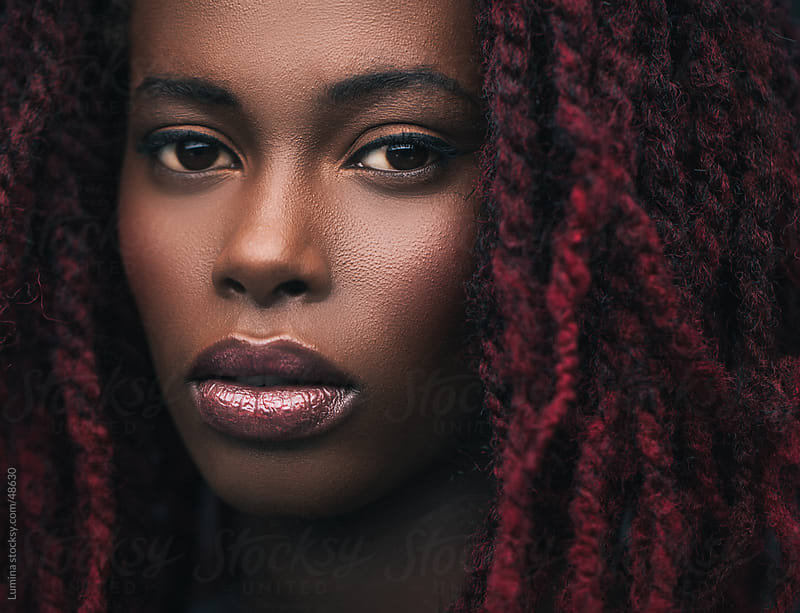 African Woman With Dreadlocks by Lumina for Stocksy United