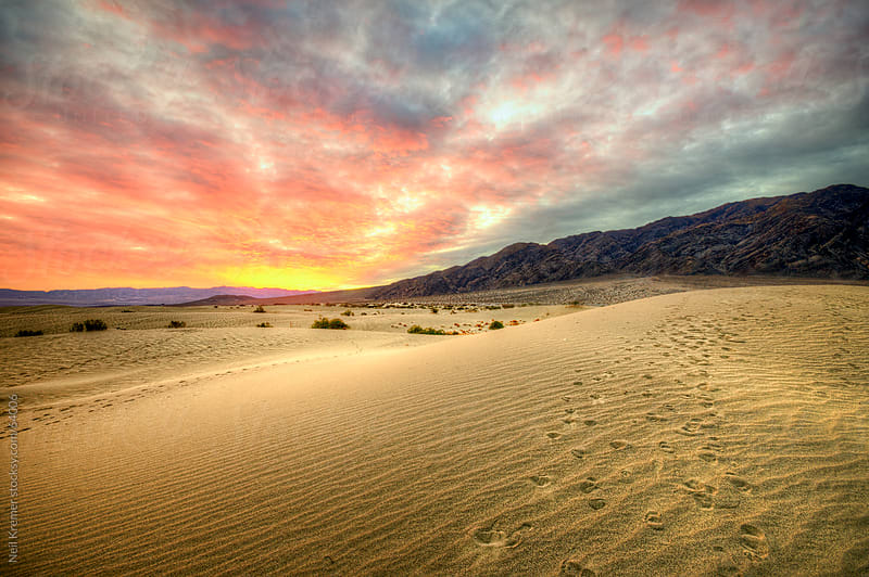 Sand dune sunrise by Neil Kremer for Stocksy United