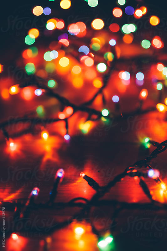 Multicolored Christmas Lights by HEX. for Stocksy United