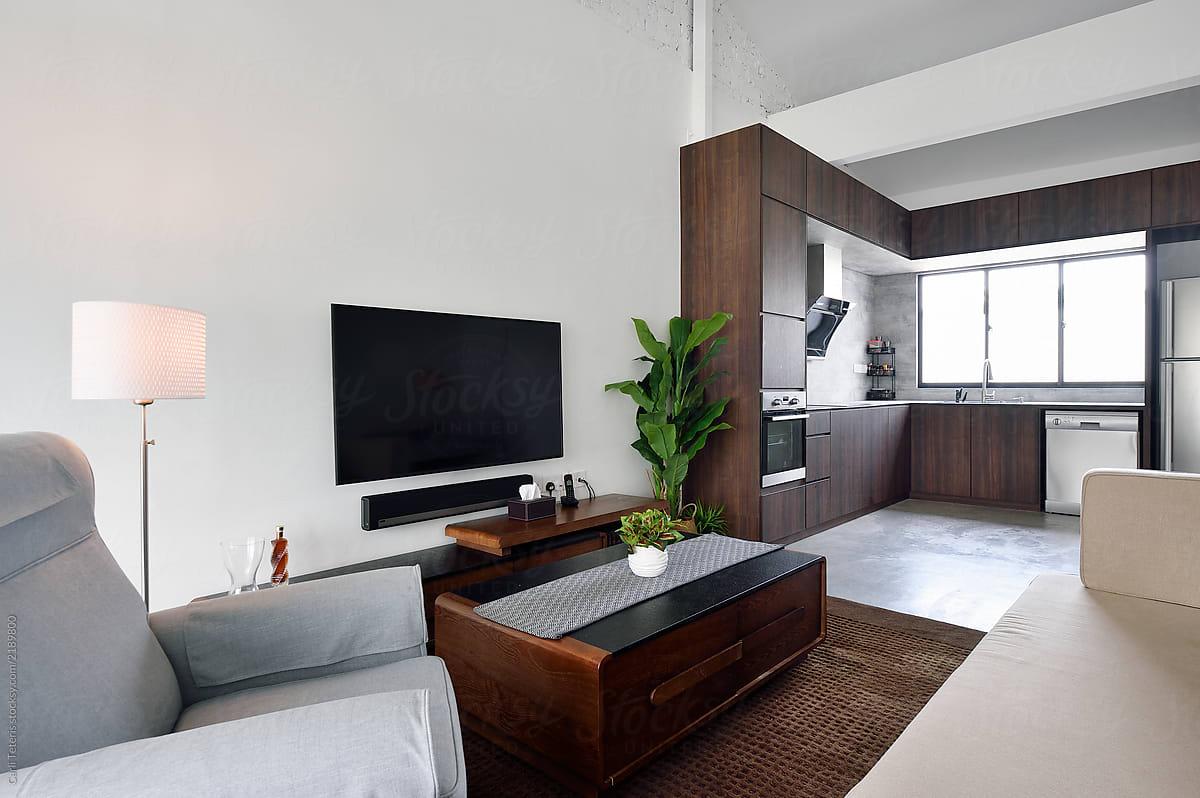 Genial Living Room With Sleek, Modern Furniture By Carli Teteris For Stocksy United