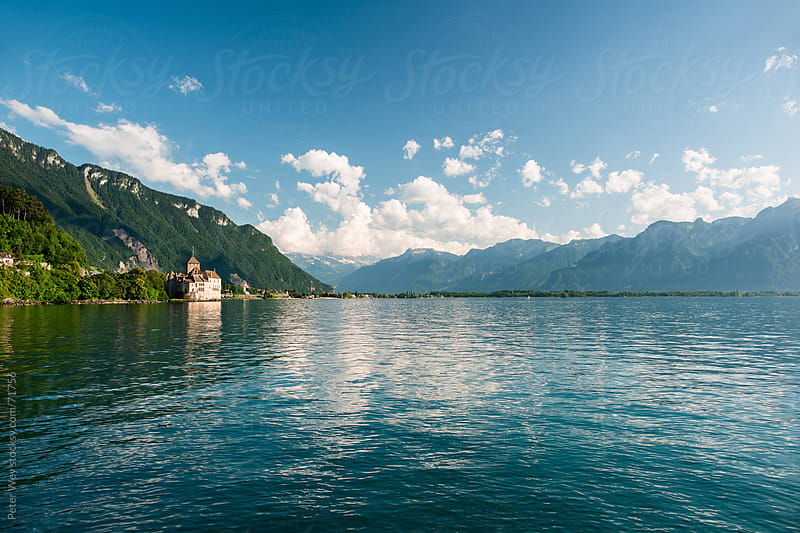 Chillon castle at lake geneva by Peter Wey for Stocksy United