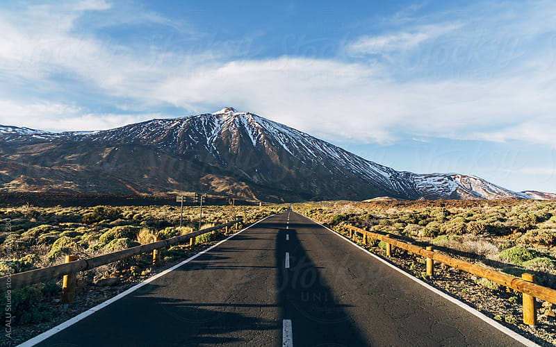 Road to the volcano Teide by ACALU Studio for Stocksy United