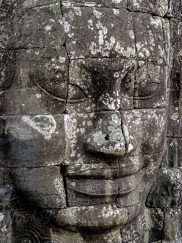 Budha Face. Bayon Temple. Angkor. Cambodia by Gabriel Diaz for Stocksy United