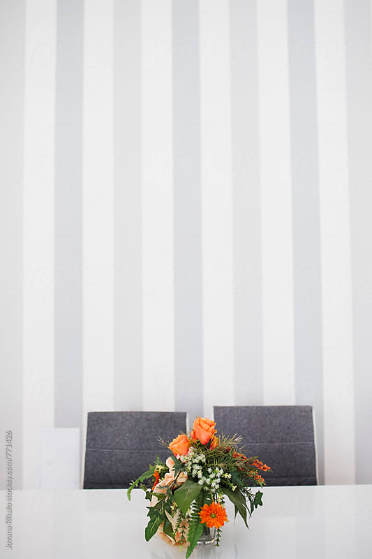 Flowerpot on the table by Jovana Rikalo for Stocksy United