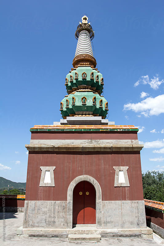 Buddhism pagoda in the Summer Palace, Beijing by zheng long for Stocksy United