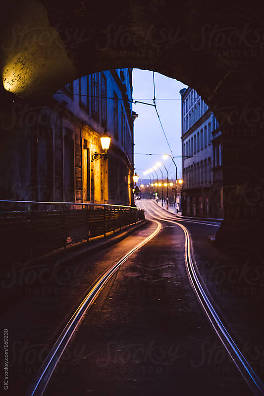 Railway in the street - Prague by GIC for Stocksy United
