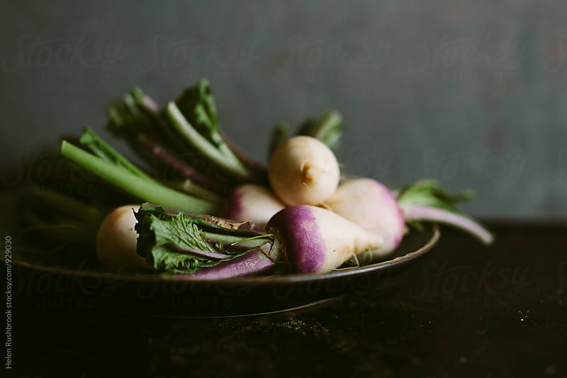 Baby turnips by Helen Rushbrook for Stocksy United
