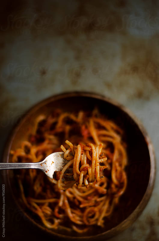 spaghetti  by Crissy Mitchell for Stocksy United