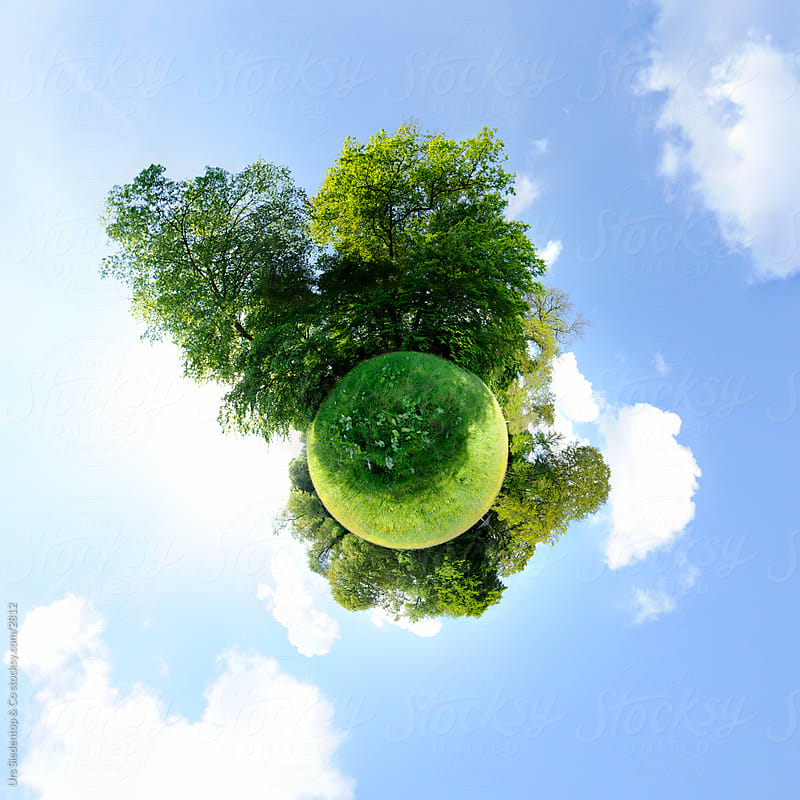 Green meadow planet - Little planet - spherical panorama by Urs Siedentop & Co for Stocksy United