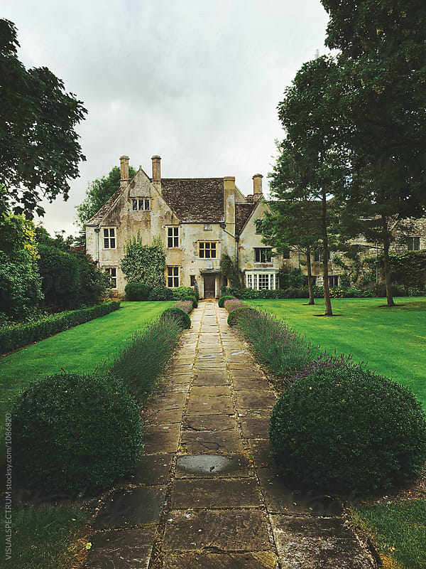 Main Building in Countryside Estate in England by Julien L. Balmer for Stocksy United