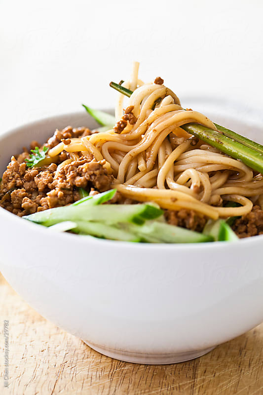 Asian Noodle Bowl by Jill Chen for Stocksy United