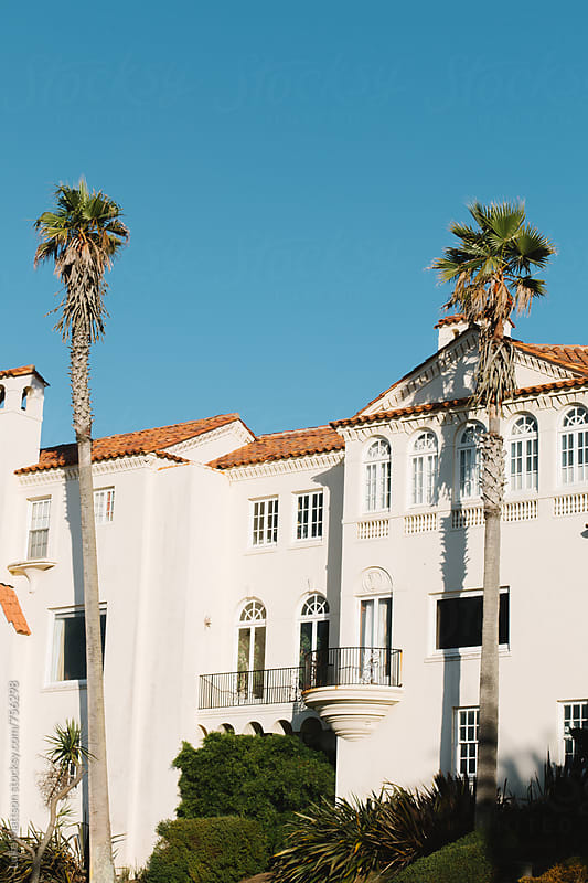 Palm Trees In Front Of Mission Style Mansion In San Francisco by Luke Mattson for Stocksy United