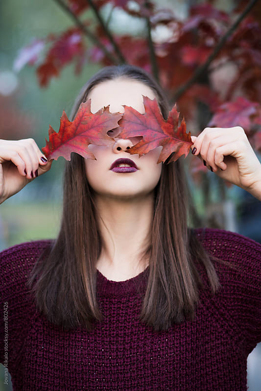 Autumn portrait of a beautiful young woman by Jovana Rikalo for Stocksy United