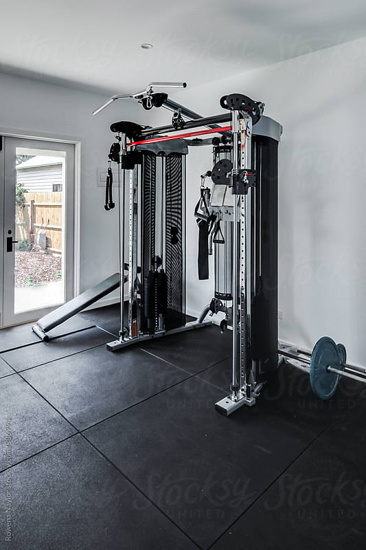Weight Equipment in Home Gym by Rowena Naylor for Stocksy United