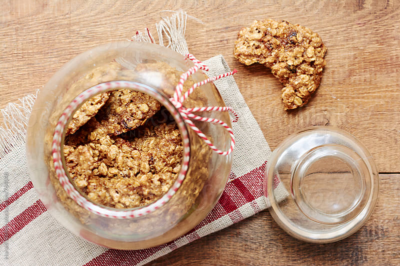 Old-fashioned Oatmeal Cookies by Harald Walker for Stocksy United