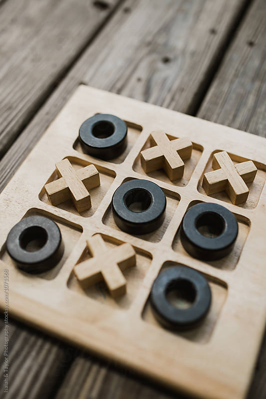 Tic Tac Toe Game Board by Isaiah & Taylor Photography for Stocksy United
