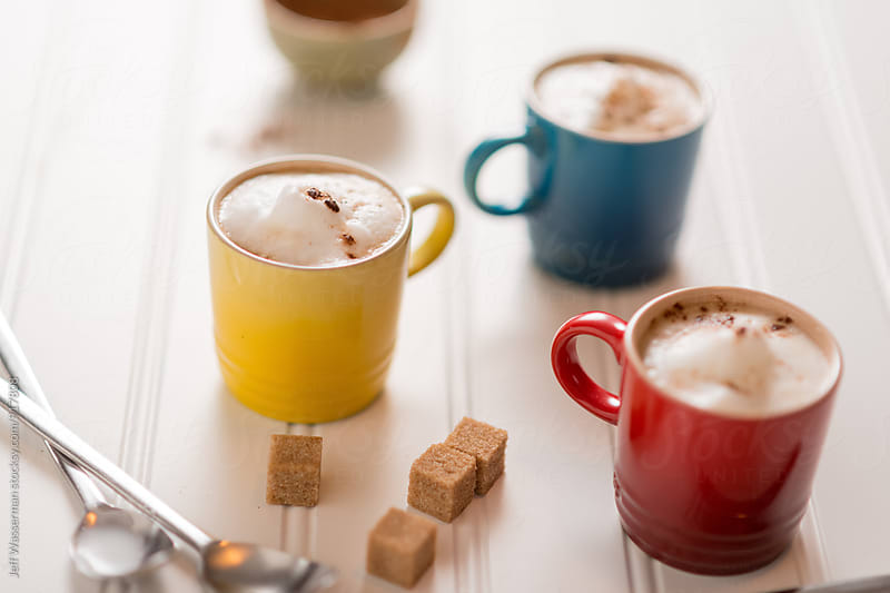 Three Small Cappuccinos by Studio Six for Stocksy United