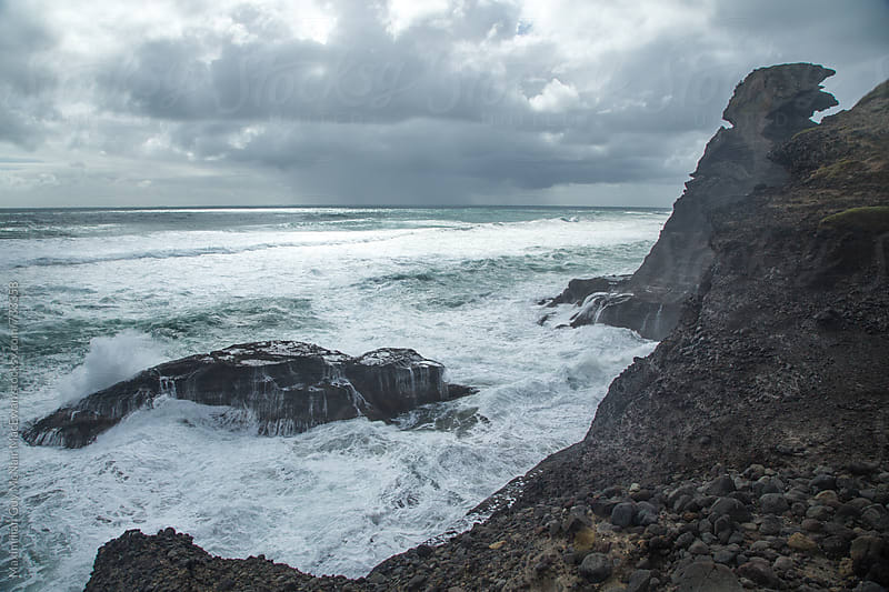 The wild waves of the West Coast of New Zealand by Maximilian Guy McNair MacEwan for Stocksy United