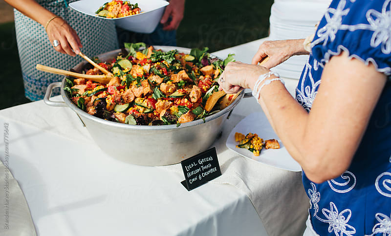 Delicious Salad at an Event by B. Harvey for Stocksy United
